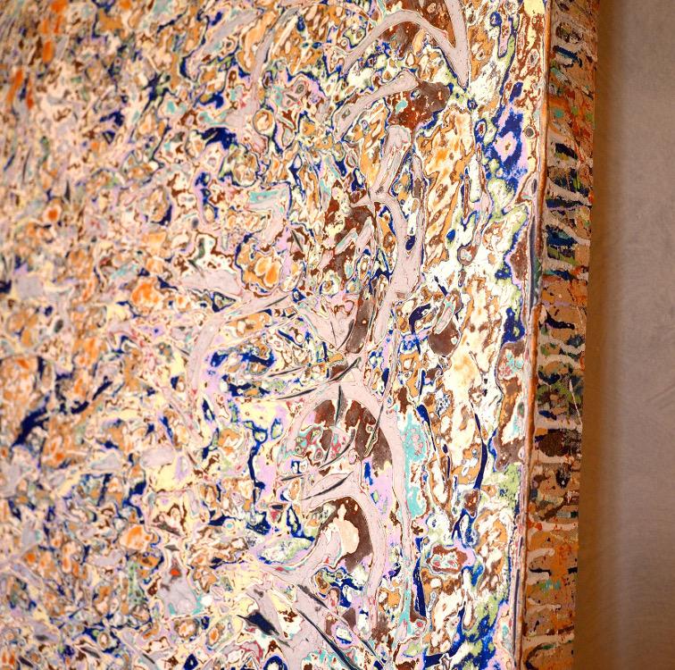 Détail d'une peinture de Soichiro Shimizu